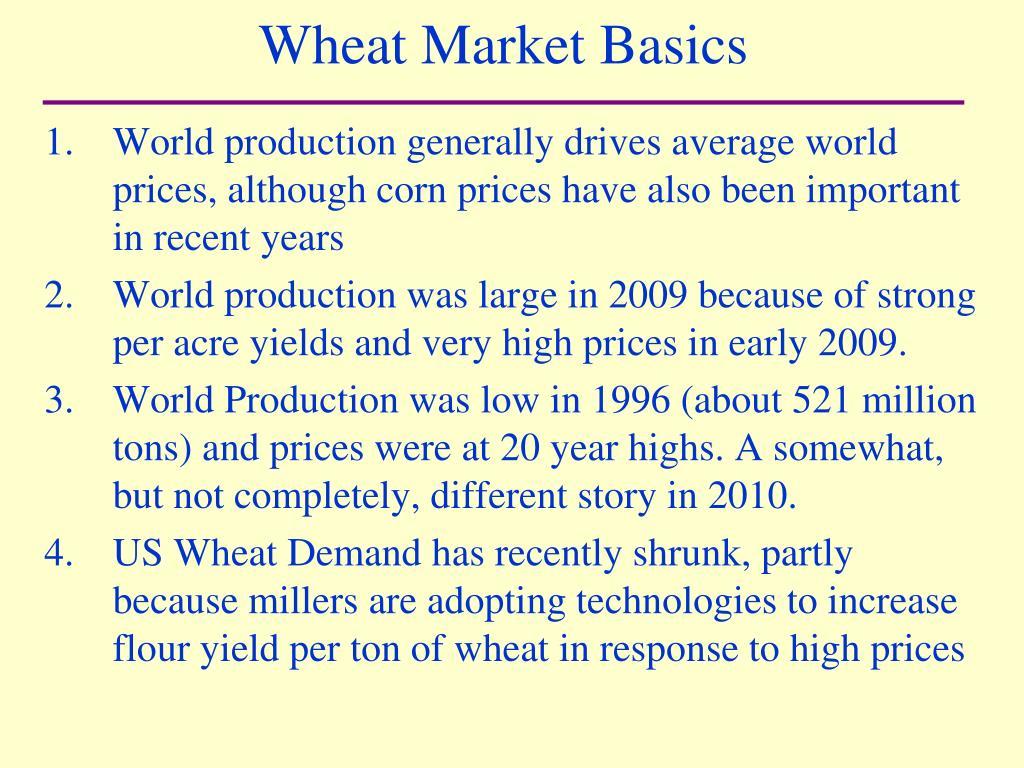 Wheat Market Basics