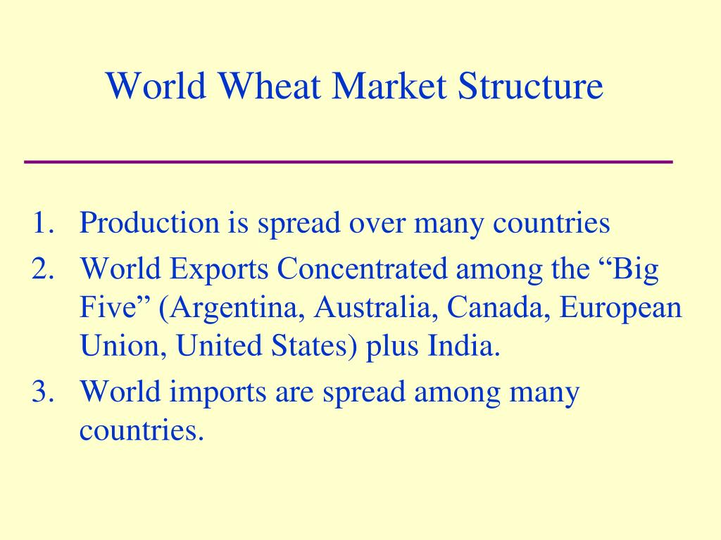 World Wheat Market Structure