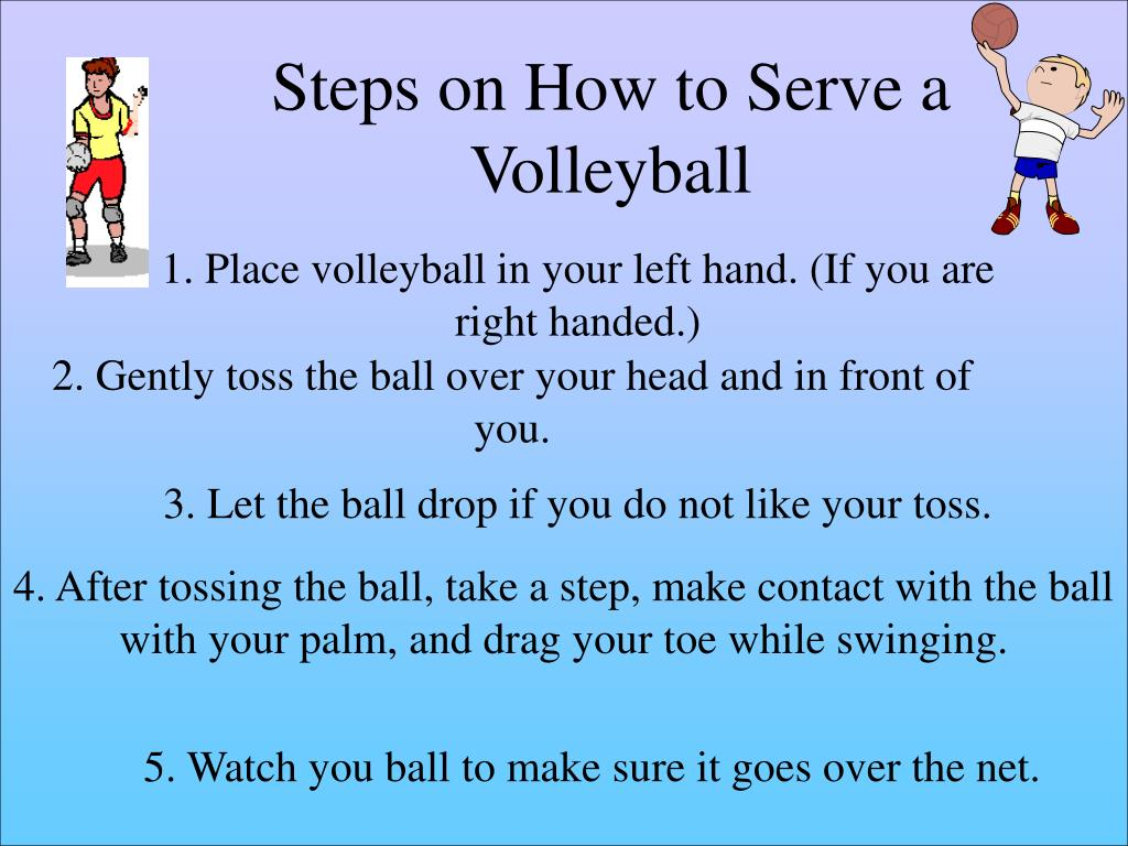 Steps on How to Serve a Volleyball