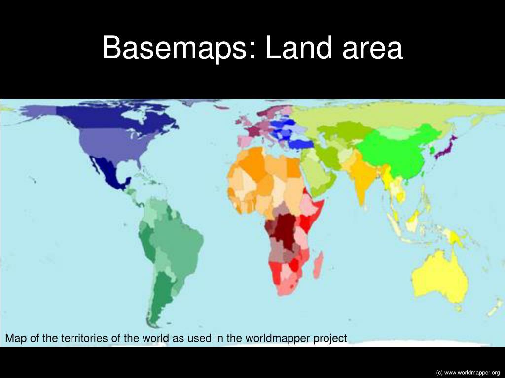 Basemaps: Land area
