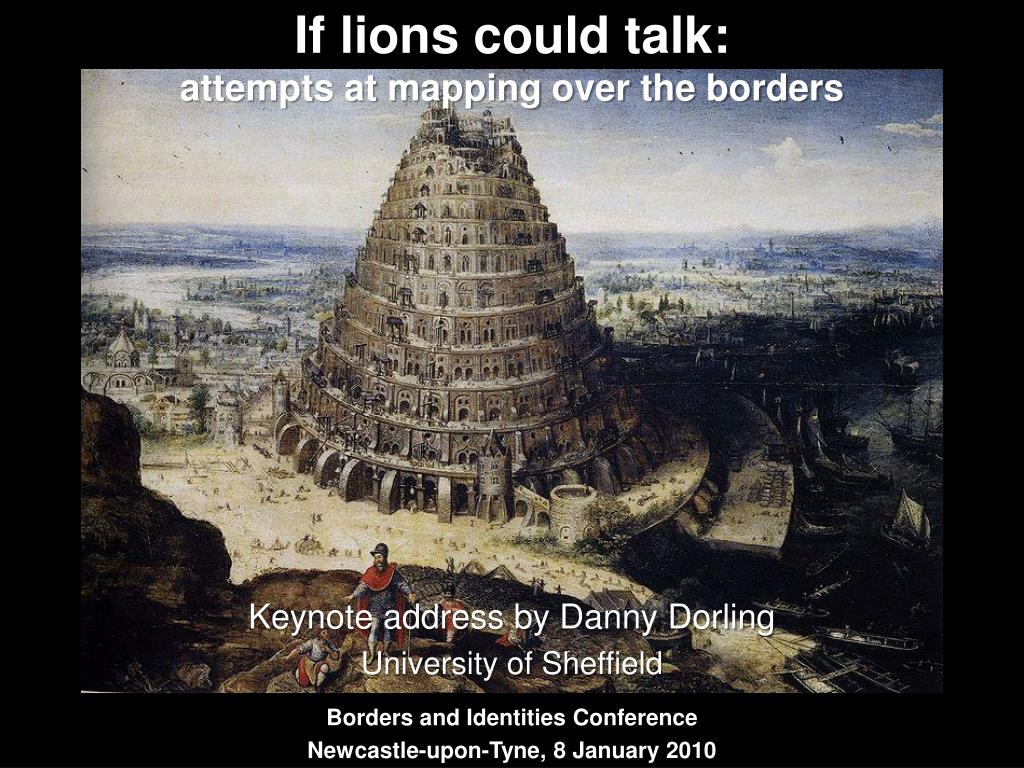 If lions could talk: