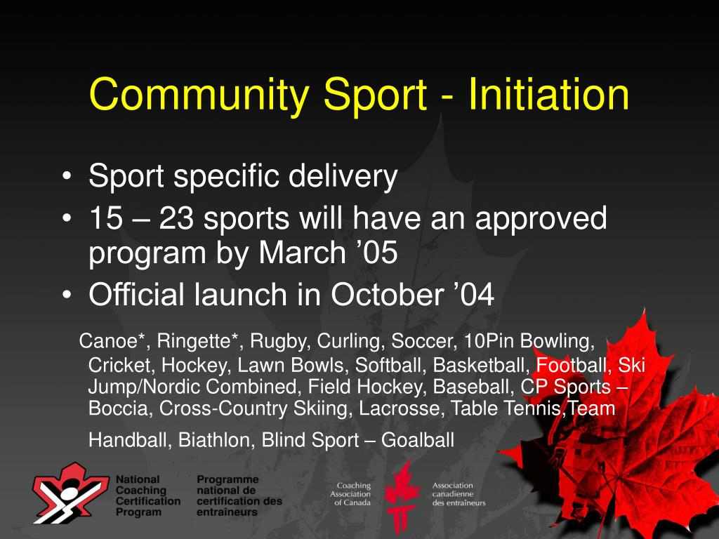 Community Sport - Initiation