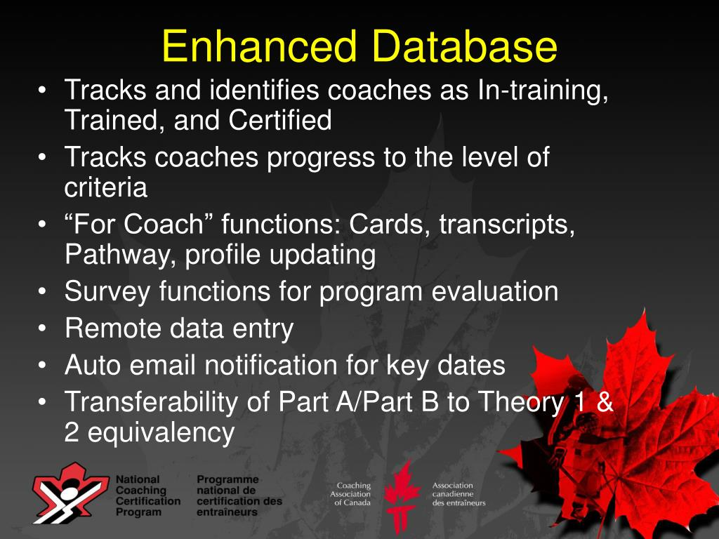 Enhanced Database
