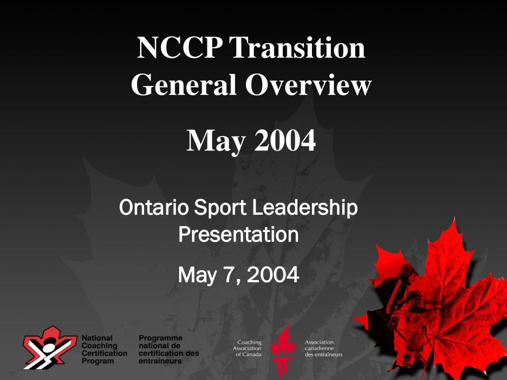NCCP Transition