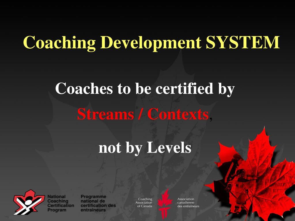 Coaching Development SYSTEM