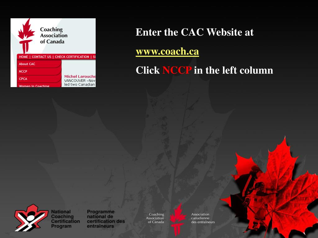 Enter the CAC Website at