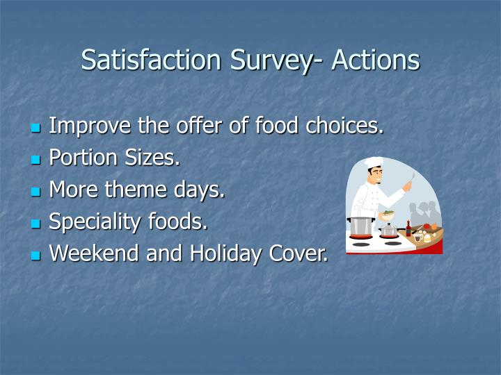 Satisfaction Survey- Actions
