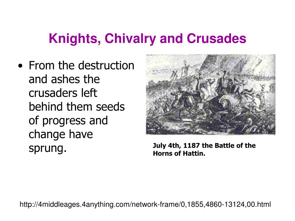 Knights, Chivalry and Crusades