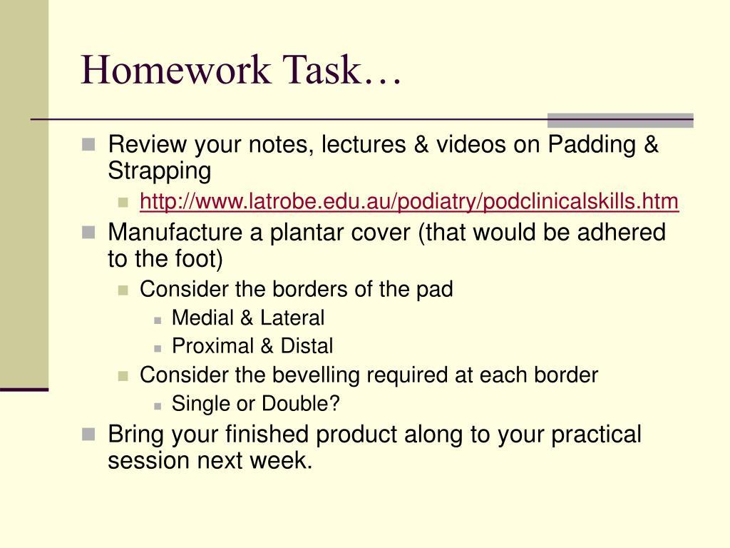 Homework Task…