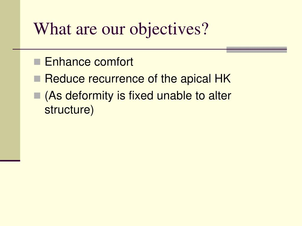 What are our objectives?