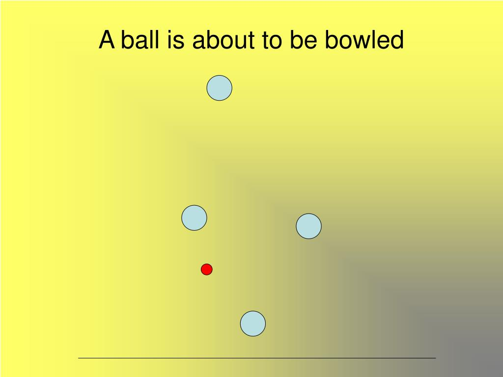 A ball is about to be bowled