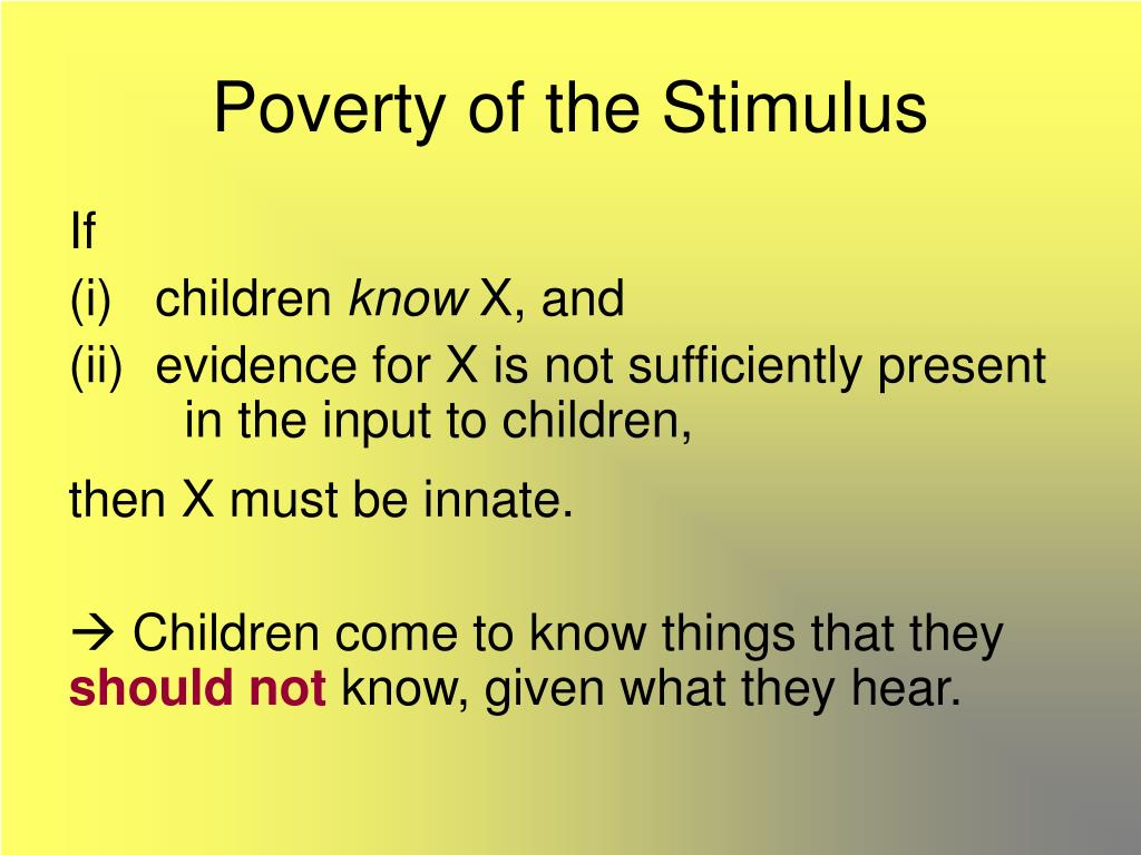 Poverty of the Stimulus
