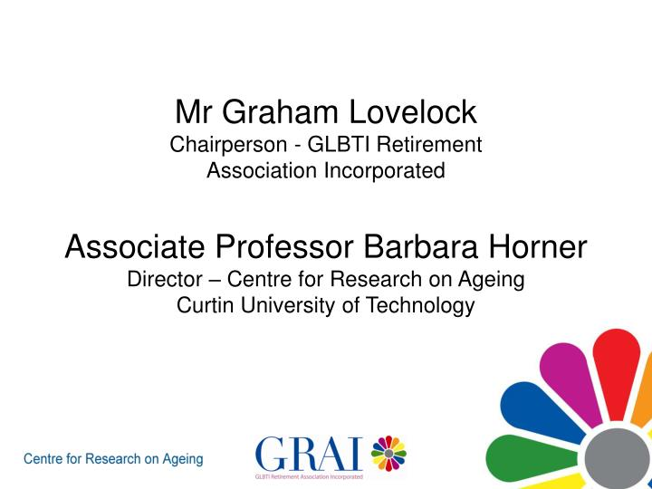 Mr Graham Lovelock