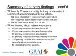 summary of survey findings cont d