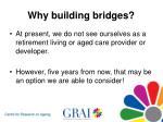 why building bridges