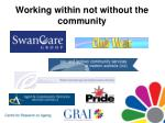 working within not without the community22