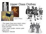 upper class clothes