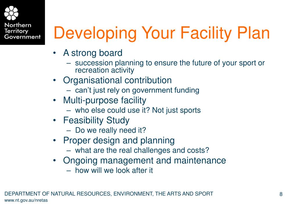 Developing Your Facility Plan