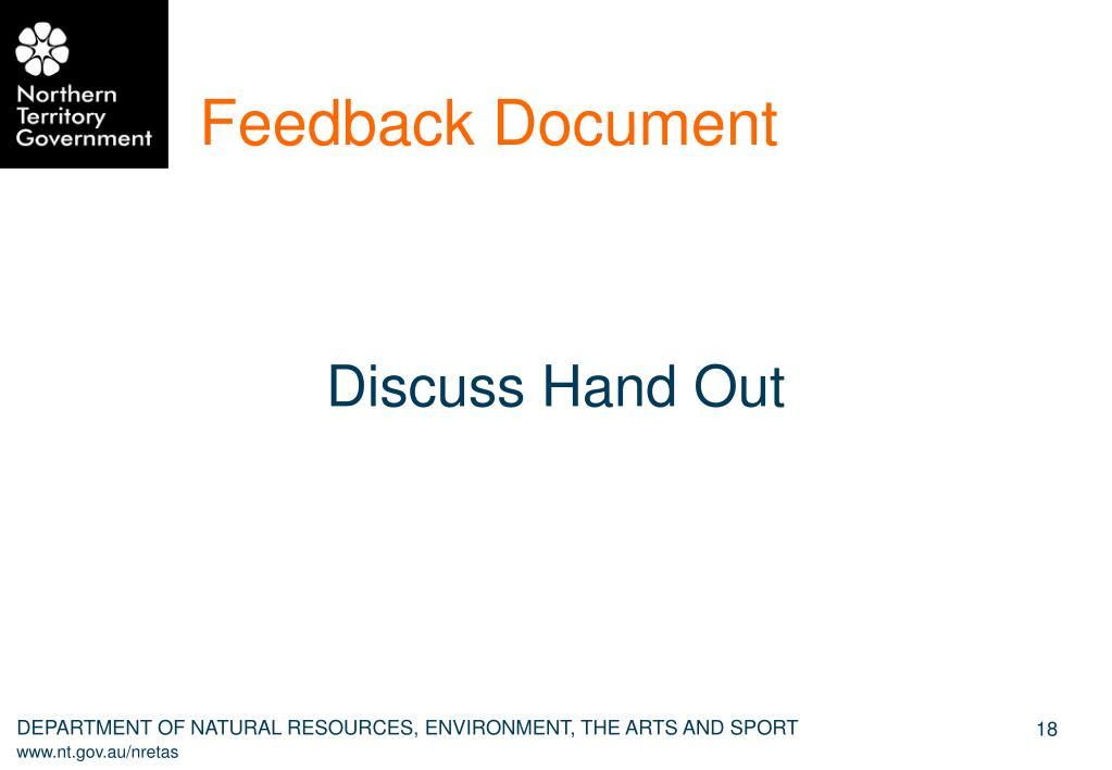 Feedback Document