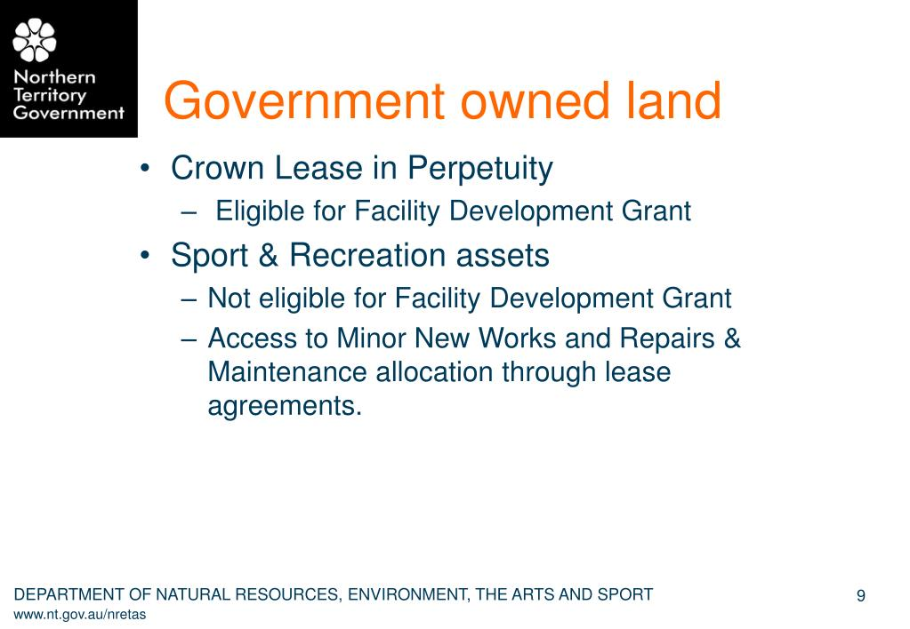 Government owned land