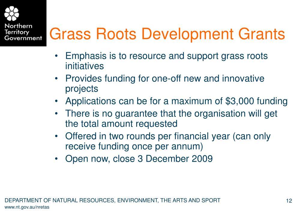 Grass Roots Development Grants