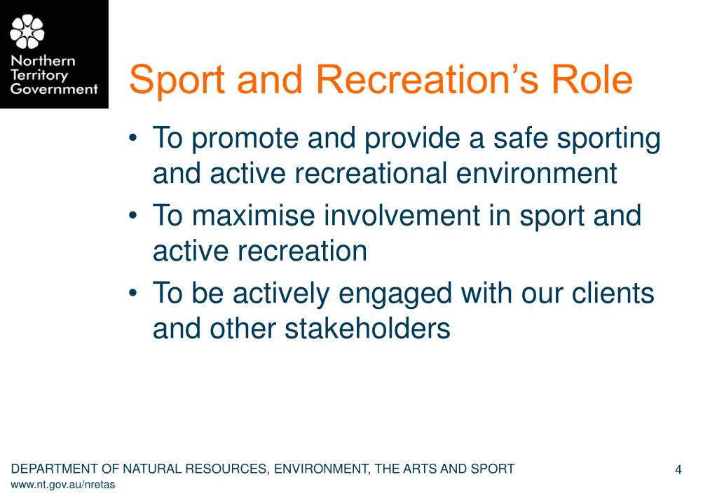 Sport and Recreation's Role