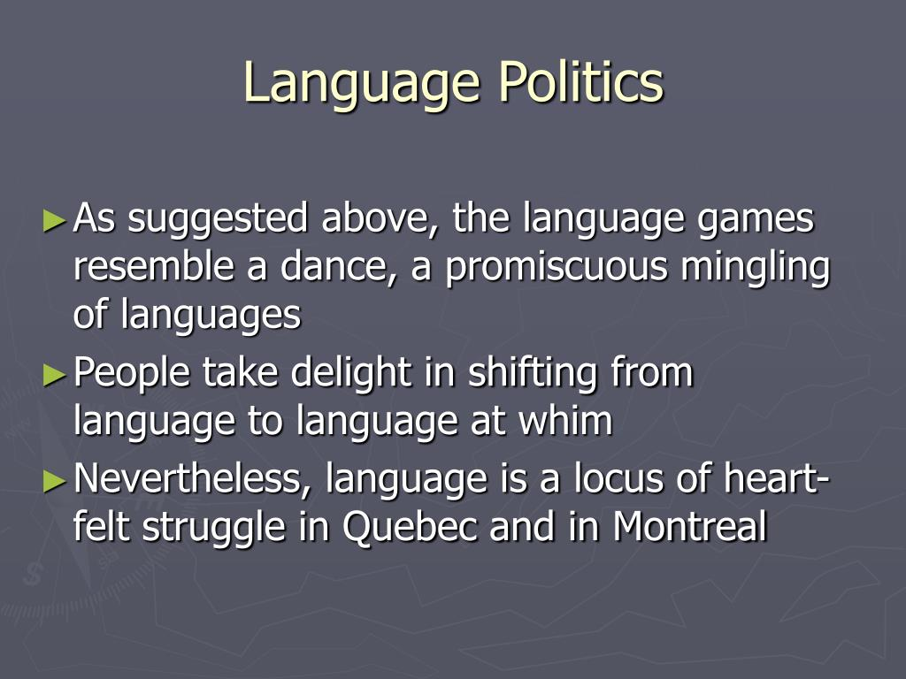 Language Politics