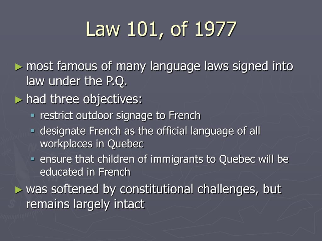 Law 101, of 1977