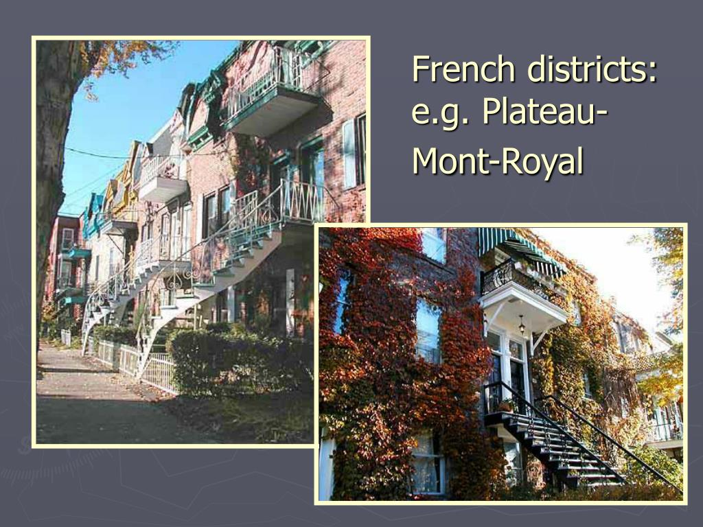 French districts: e.g. Plateau-Mont-Royal