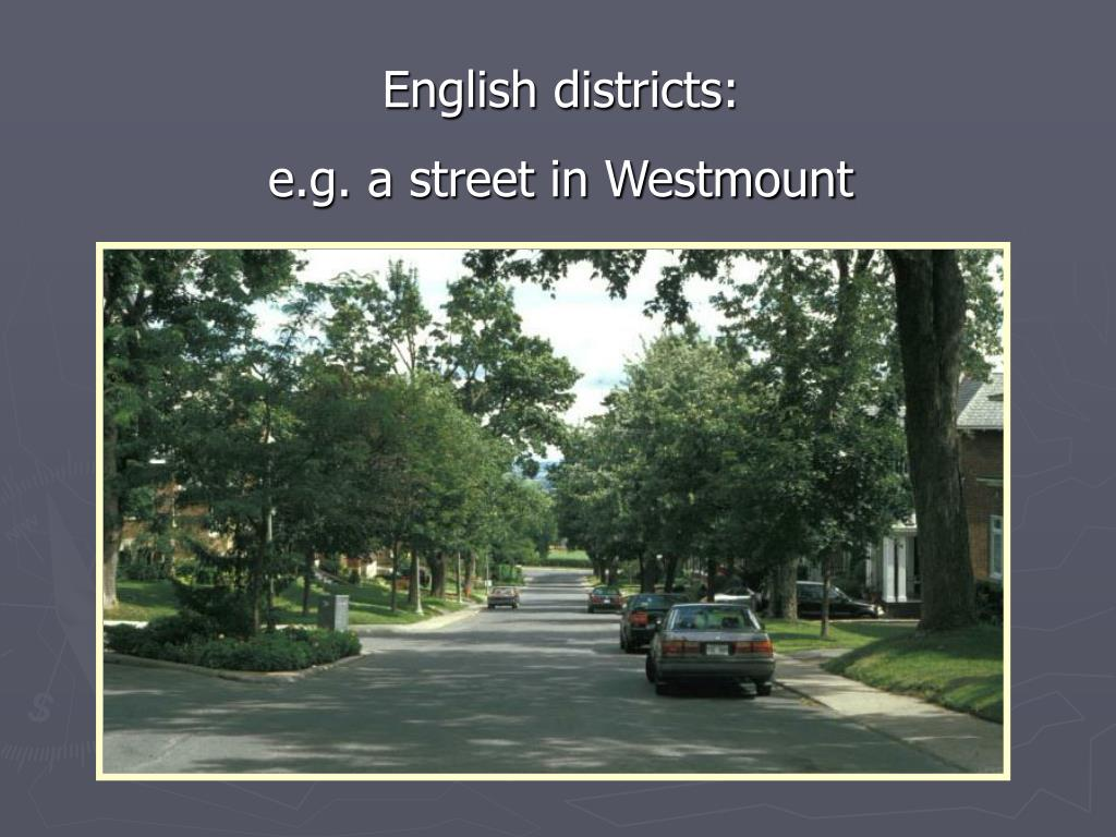 English districts: