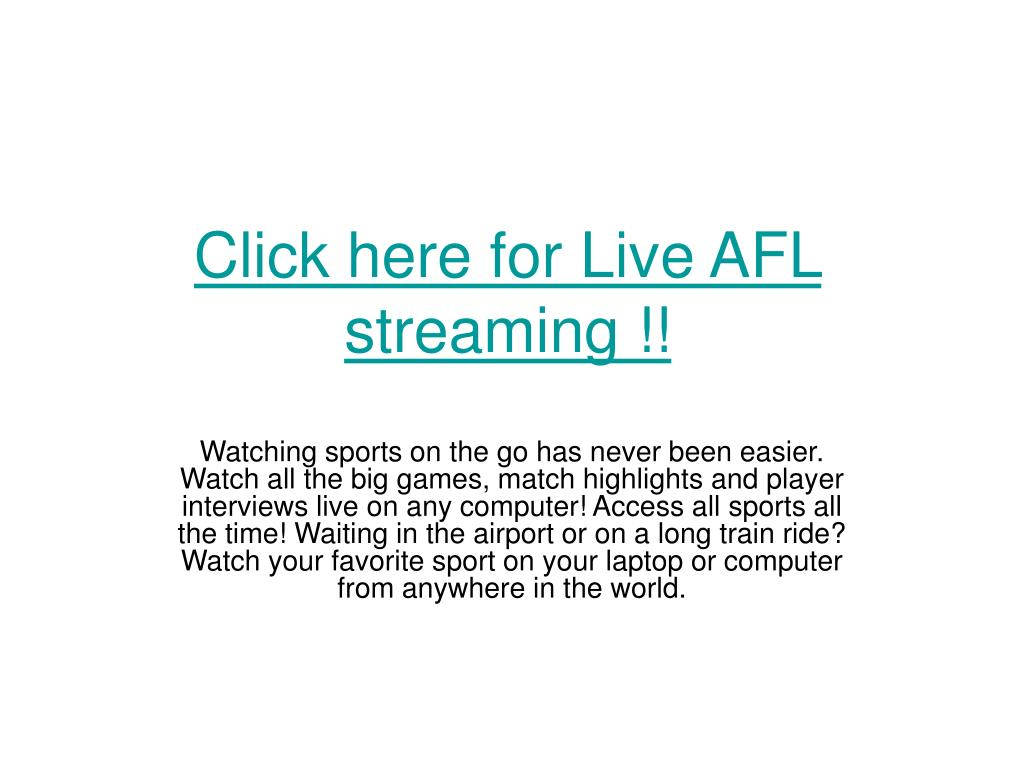Click here for Live AFL streaming !!