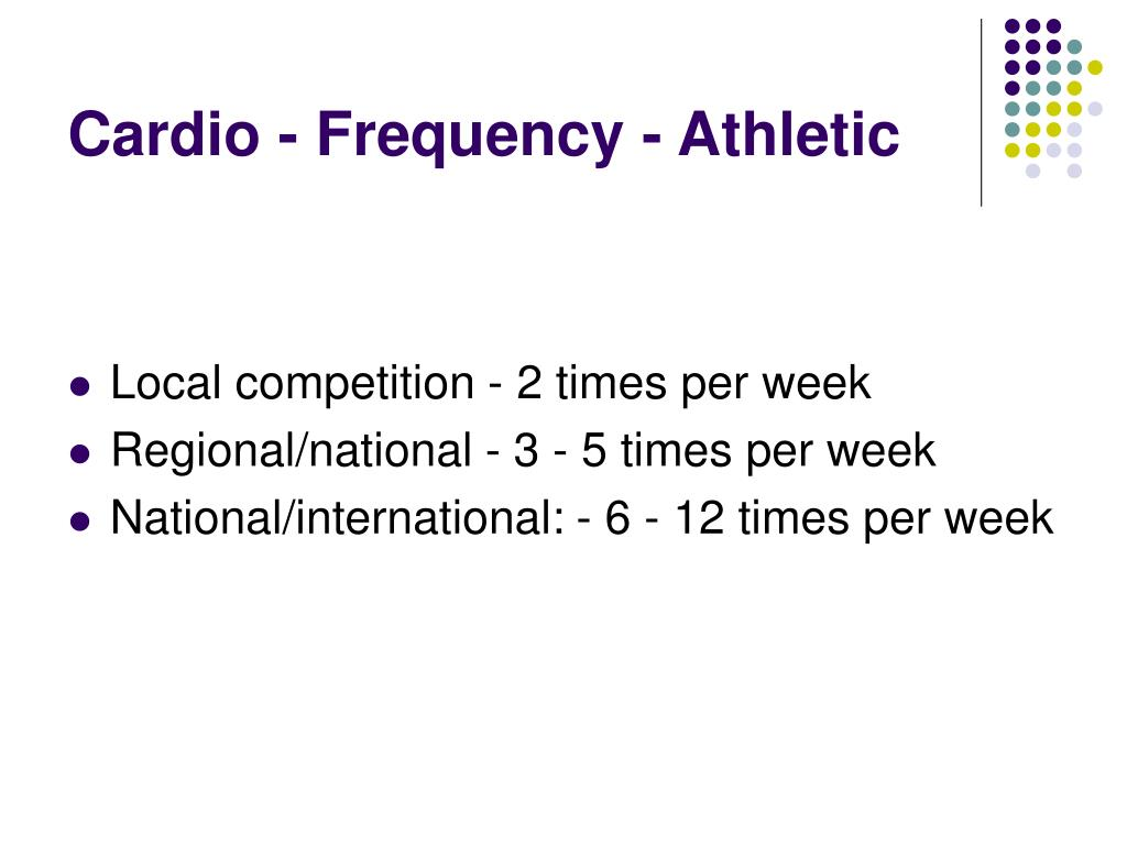 Cardio - Frequency - Athletic