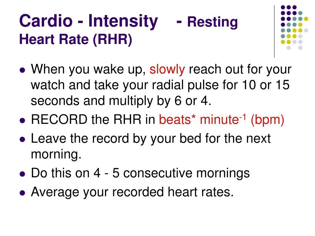 Cardio - Intensity-