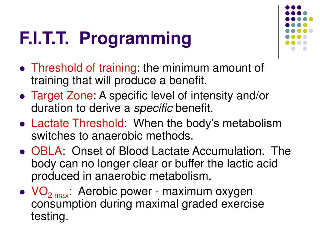 F.I.T.T.  Programming
