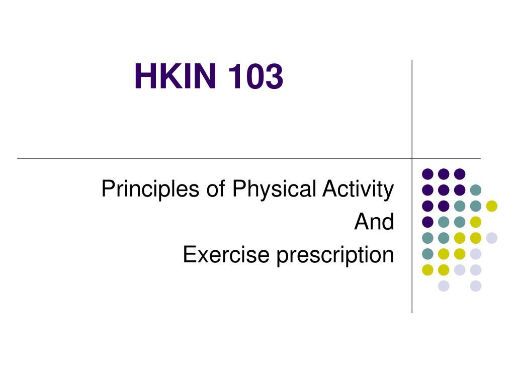 HKIN 103