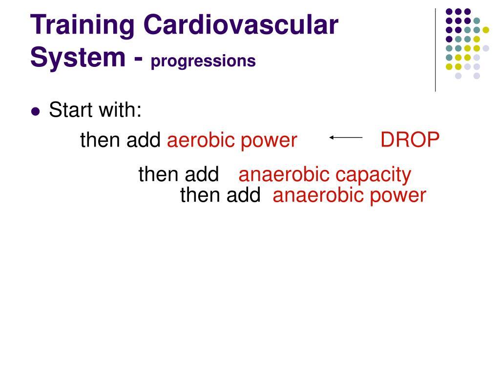 Training Cardiovascular System -