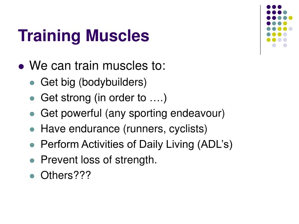Training Muscles