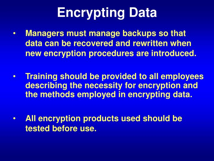 Encrypting Data