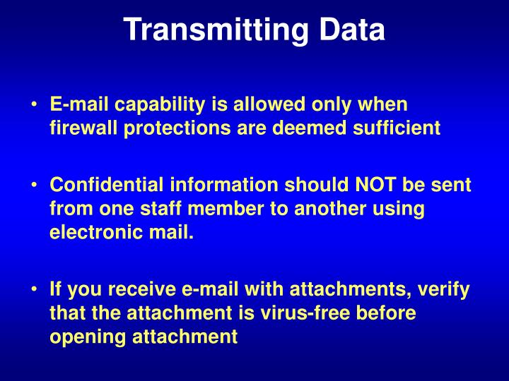 Transmitting Data