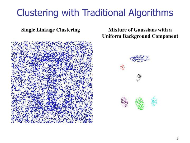 Clustering with Traditional Algorithms