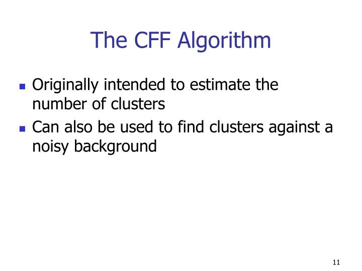 The CFF Algorithm