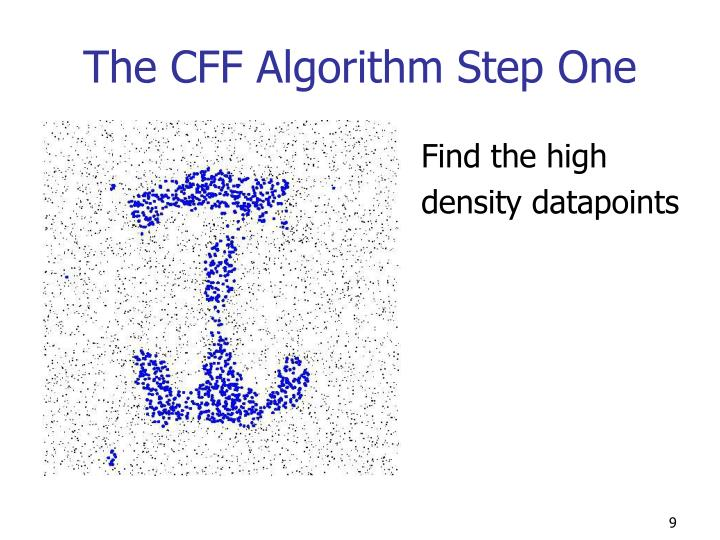 The CFF Algorithm Step One