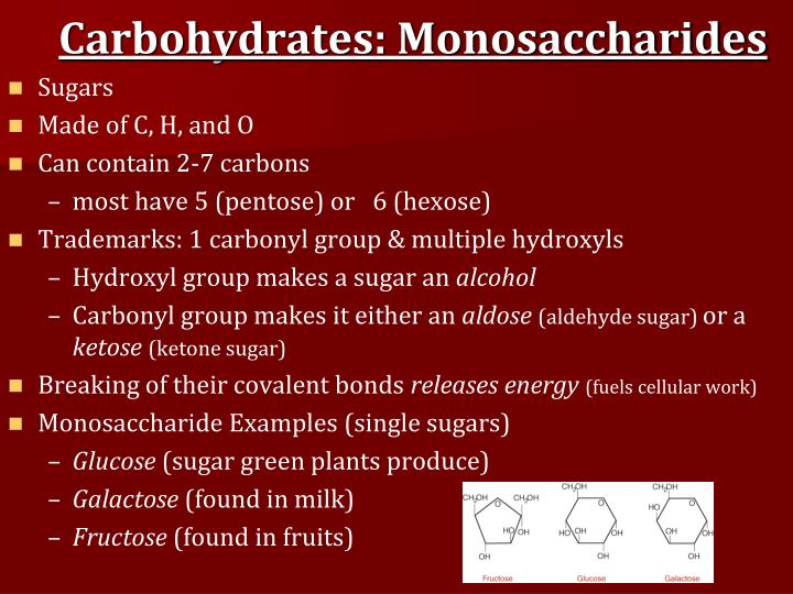 Carbohydrates: