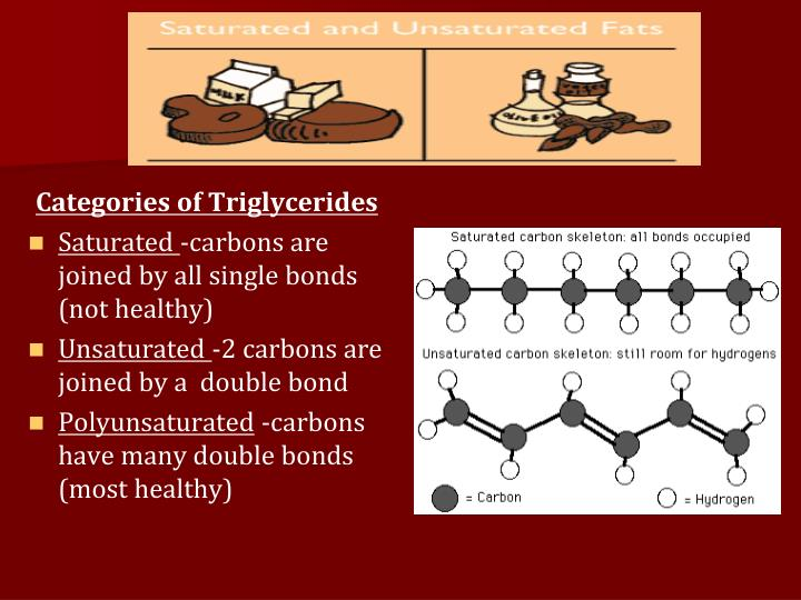 Categories of Triglycerides