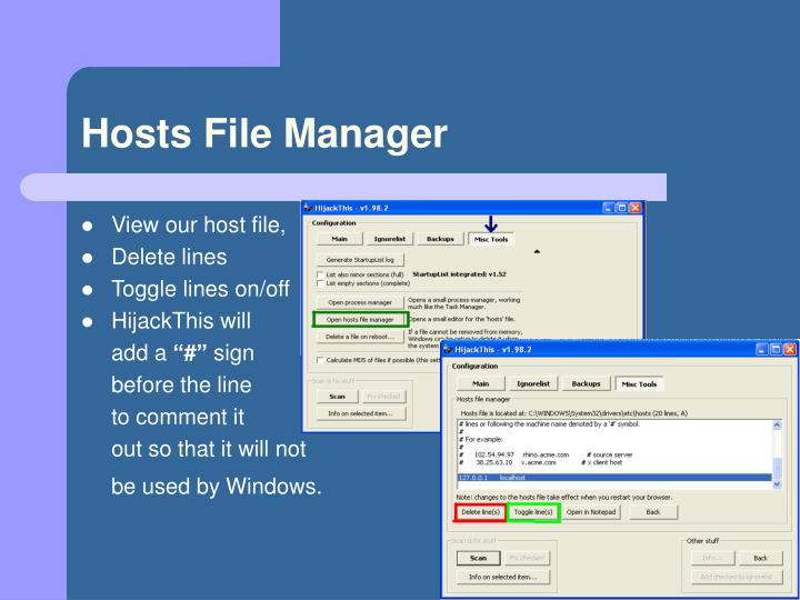 Hosts File Manager