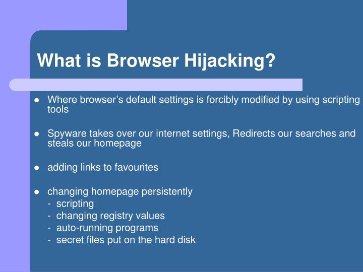 What is Browser Hijacking?