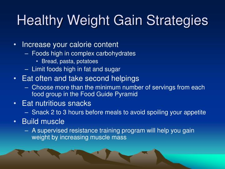 Healthy Weight Gain Strategies
