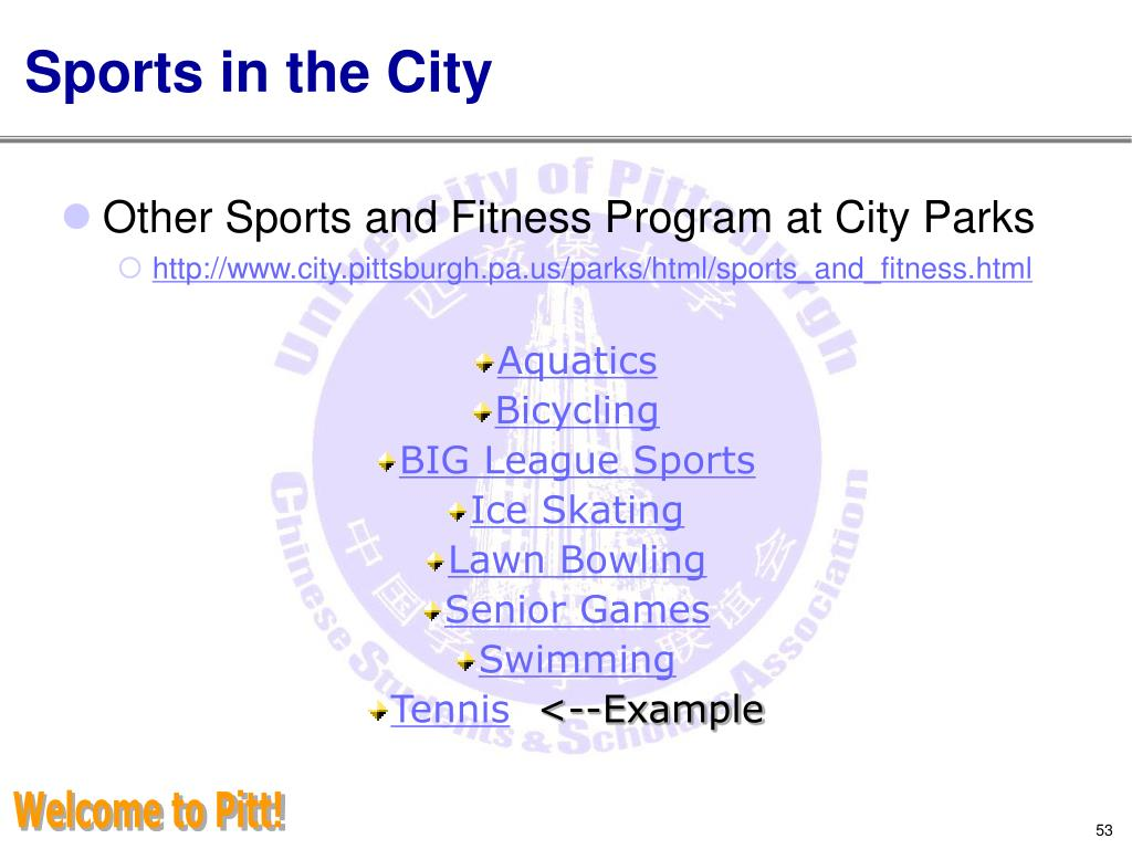 Sports in the City