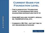 current basis for foundation level