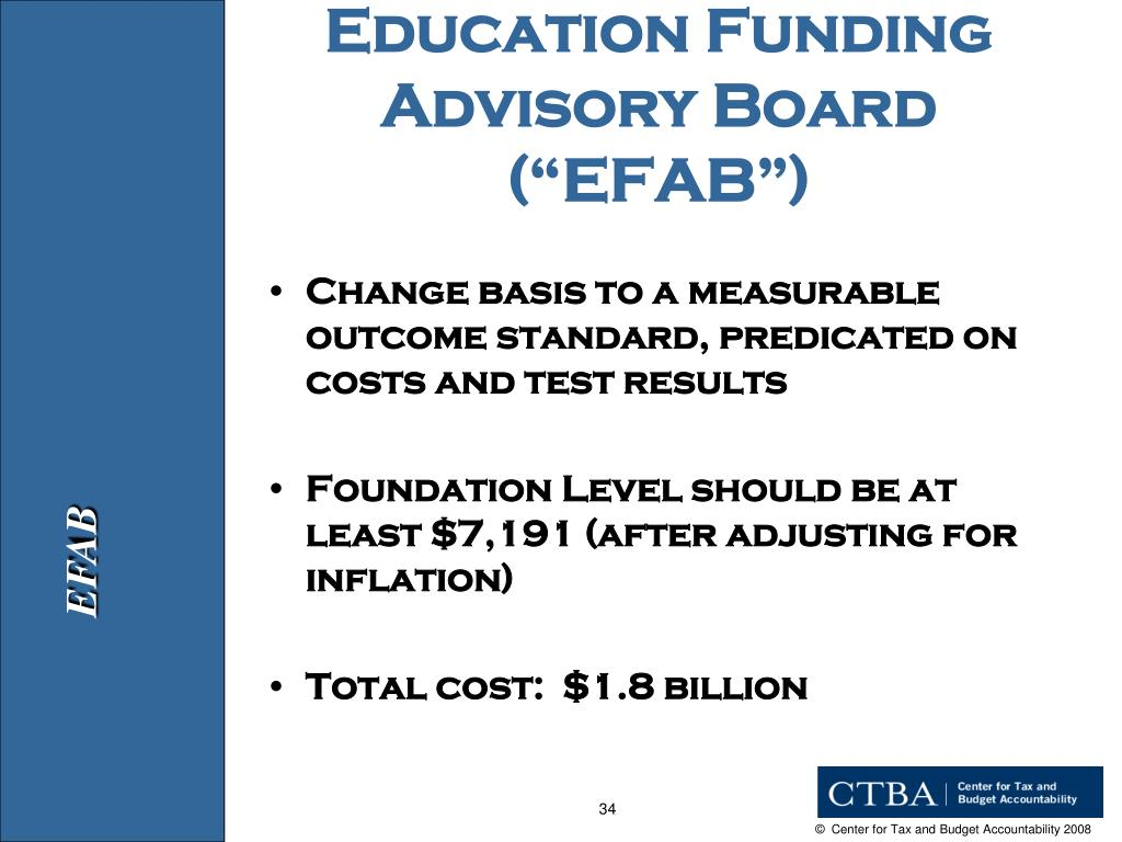"Education Funding Advisory Board (""EFAB"")"